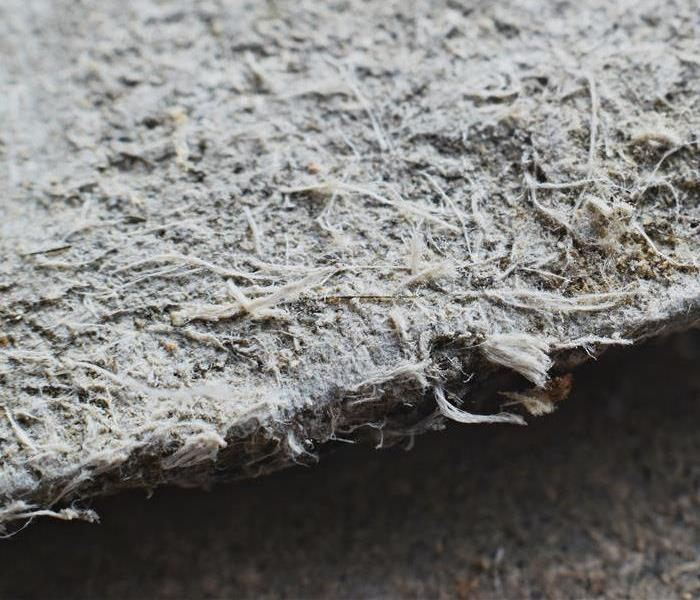 Asbestos can be found in several different forms, such as this roofing material. The only way to be certain is to test for it